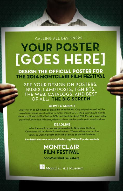 Poster Giveaway - mff 2014 poster contest montclair film festival