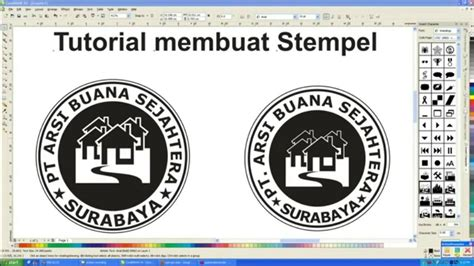 tutorial membuat logo tutorial membuat stempel dan logo menggunakan coreldraw