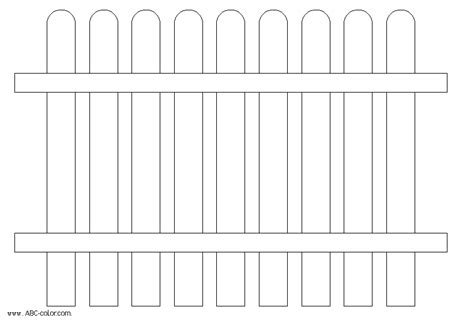 picket fence template cliparts co