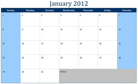 Templates Free 2012 by January 2012 Calendar January 2012 Calendar Printable