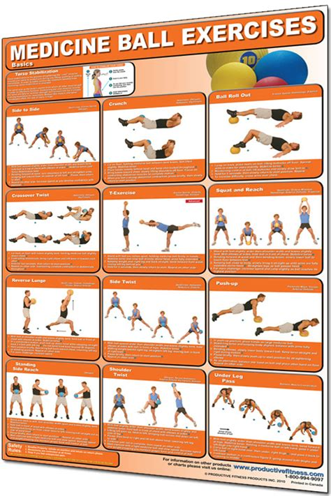 printable exercise ball routines medicine ball poster basics