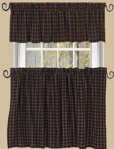 plaid valance curtains cambridge plaid straight lined curtain valance