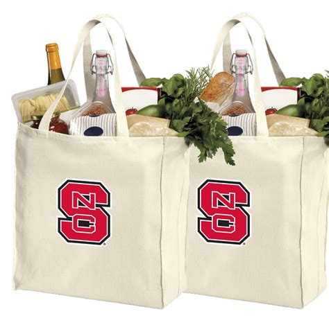 Cotton Grocery nc state cotton shopping grocery bags 2 pc set