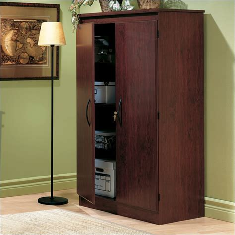 Armoire Cabinets by Traditional Cherrywood Locking Storage Cabinet 7206970
