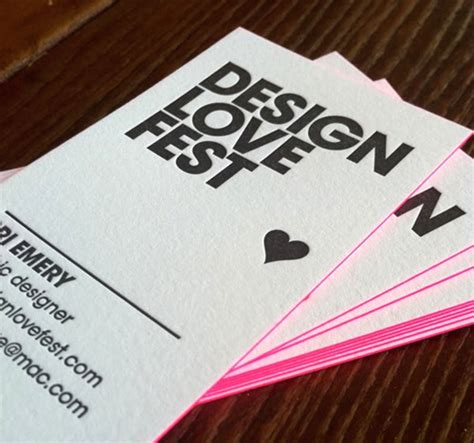 Design Love Fest Business Cards | business card for design love fest the best of business