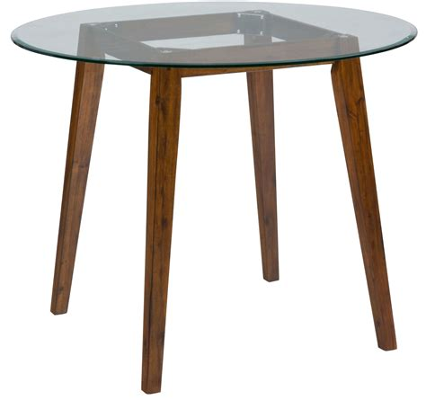plantation 48 quot glass top counter height dining table