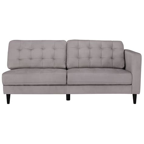 Gray Microfiber Sectional City Furniture Shae Light Gray Microfiber Left Chaise