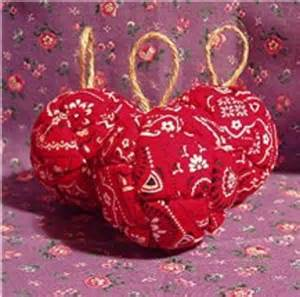 red bandana western themed christmas ornaments set of 3
