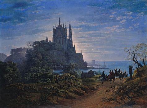 am meer file karl friedrich schinkel gotische kirche auf einem