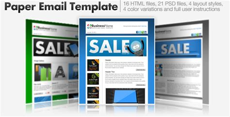 email template themeforest paper email templates 16 html email templates by cazoobi