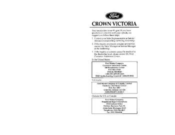 download car manuals pdf free 1995 ford crown victoria head up display download 1997 ford crown victoria owner s manual pdf 310 pages