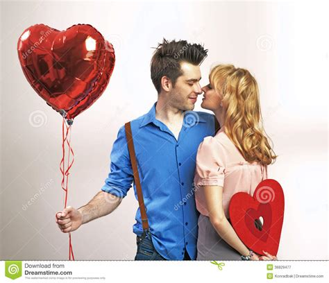 couples valentines attractive during s day stock image