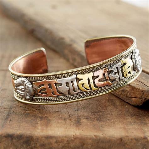 tibetan mantra copper bracelet national geographic store