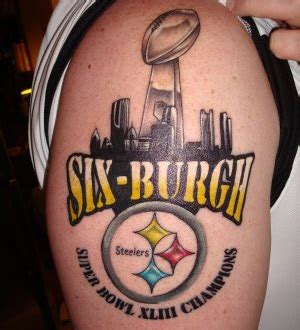 tattoo a mild super bowl xlv 2011 pittsburgh steelers vs