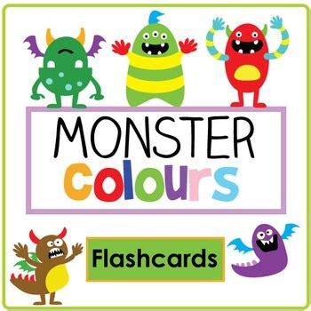 monsters colors colour flashcard set by meg teachers pay
