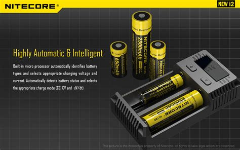Sale Nitecore Intellicharger Universal Battery Charger 2 Slot nitecore intellicharger universal battery charger 2 slot for li ion and nimh new i2 black