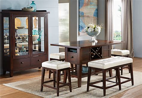 julian place chocolate vanilla 4 pc counter height dining