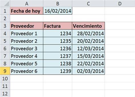 fecha vencimiento sueldos y salarios 191 c 243 mo marcar fechas vencidas en excel 171 fecha excel