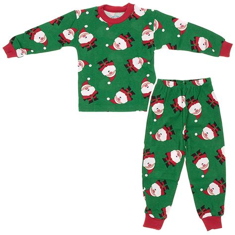 sara s prints green santa claus christmas pajamas for boys
