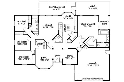 Mediterranean House Plans Bryant 11 024 Associated Designs Mediterranean House Design Floor Plans