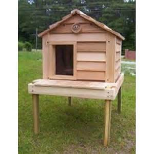 20 inch cedar cat house with platform