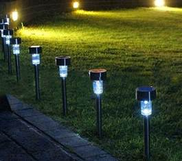 light solar 2016 new 24pcs set outdoor garden led outdoor path