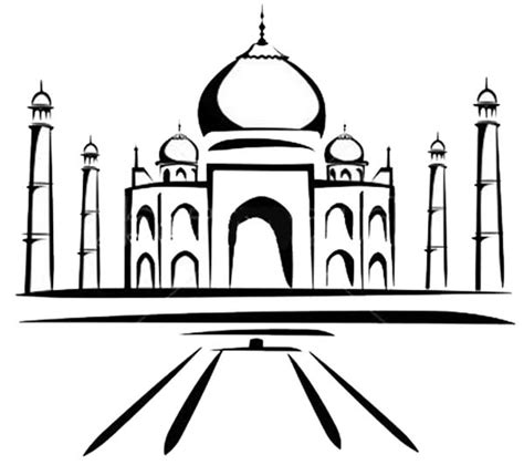 easy taj mahal coloring coloring pages