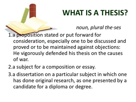 What Is A Thesis Statement In An Essay Exles by The Thesis And Its Parts