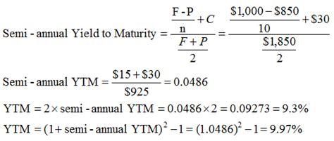 calculator yield to maturity yield to maturity ytm approximation formula finance train