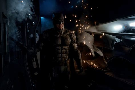 justice league upcoming film photo ben affleck as batman in new justice league film