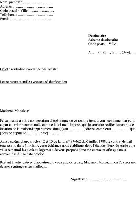 Lettre De Preavis Location Meublee lettre de preavis location meublee 3 modele lettre de demission medecin document