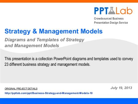 Business Policy And Strategic Management Ppt For Mba by Corporate Strategy And Management Models Powerpoint