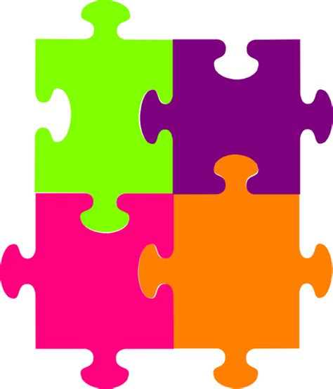 4 puzzle template jigsaw puzzle 4 pieces clip at clker vector clip