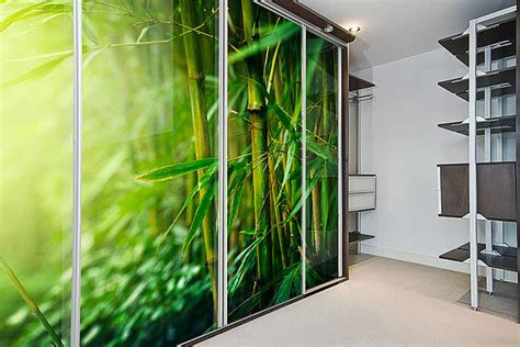 Printed Wardrobe by Printed Glass Doors Sliding Wardrobe Direct Cyprus