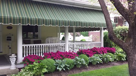 fabric awnings for home beautiful striped sunbrella porch awning lititz pa