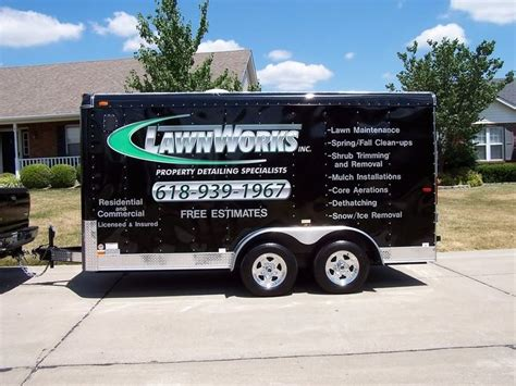 enclosed landscape trailers enclosed trailer lettering prices any pics out