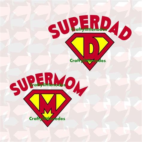 s day cameos supermom superdad svg scalable vector by