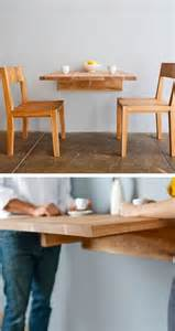Wall Kitchen Table Wall Mounted Dining Table Great For Small Spaces Dining Kitchen Diy Wall