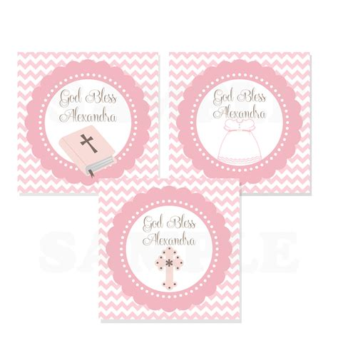 printable gift cards for baptism personalized baby girl baptism christening favor tags