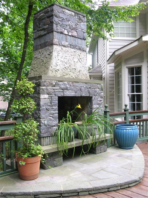 outdoor fireplace raleigh nc traditional