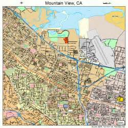 mountain view california map mountain view california map 0649670