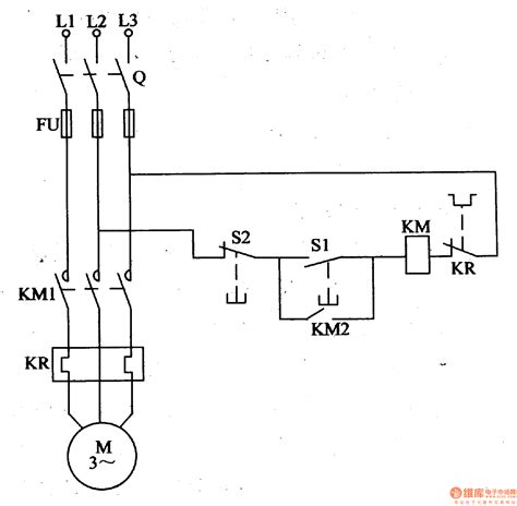 common electrical motor controlled circuit  power