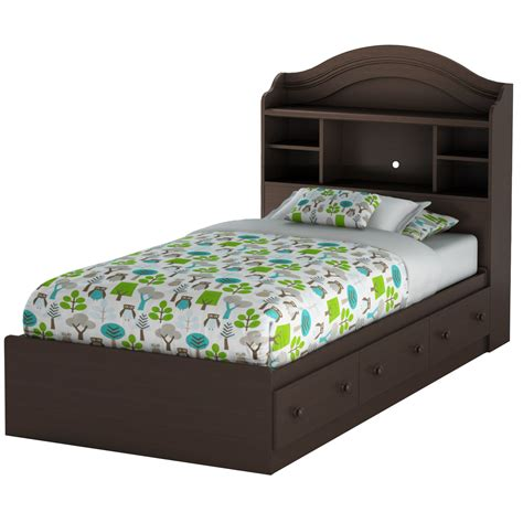 twin bed with storage south shore summer breeze twin mate s bed with storage