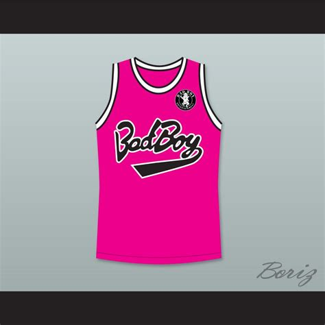 Jersey Pink notorious b i g 97 bad boy pink basketball jersey with patch