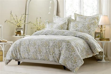 6pc floral vine sage beige bedding set includes comforter