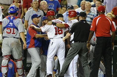 cubs bench cubs nationals in bench clearing incidents oh yes cubs