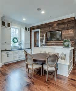 Kitchen Ideas Reclaimed Wood Splashy Banquette Bench In Kitchen Traditional With Barn
