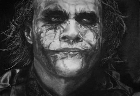 imagenes de joker 13 the joker heath ledger retrato realista gran tama 241 o
