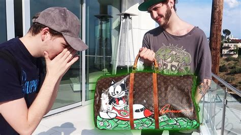 surprised with a custom louis vuitton bag 10 000 youtube
