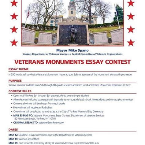 Veterans Essay by Yonkers Veterans Essay Contest